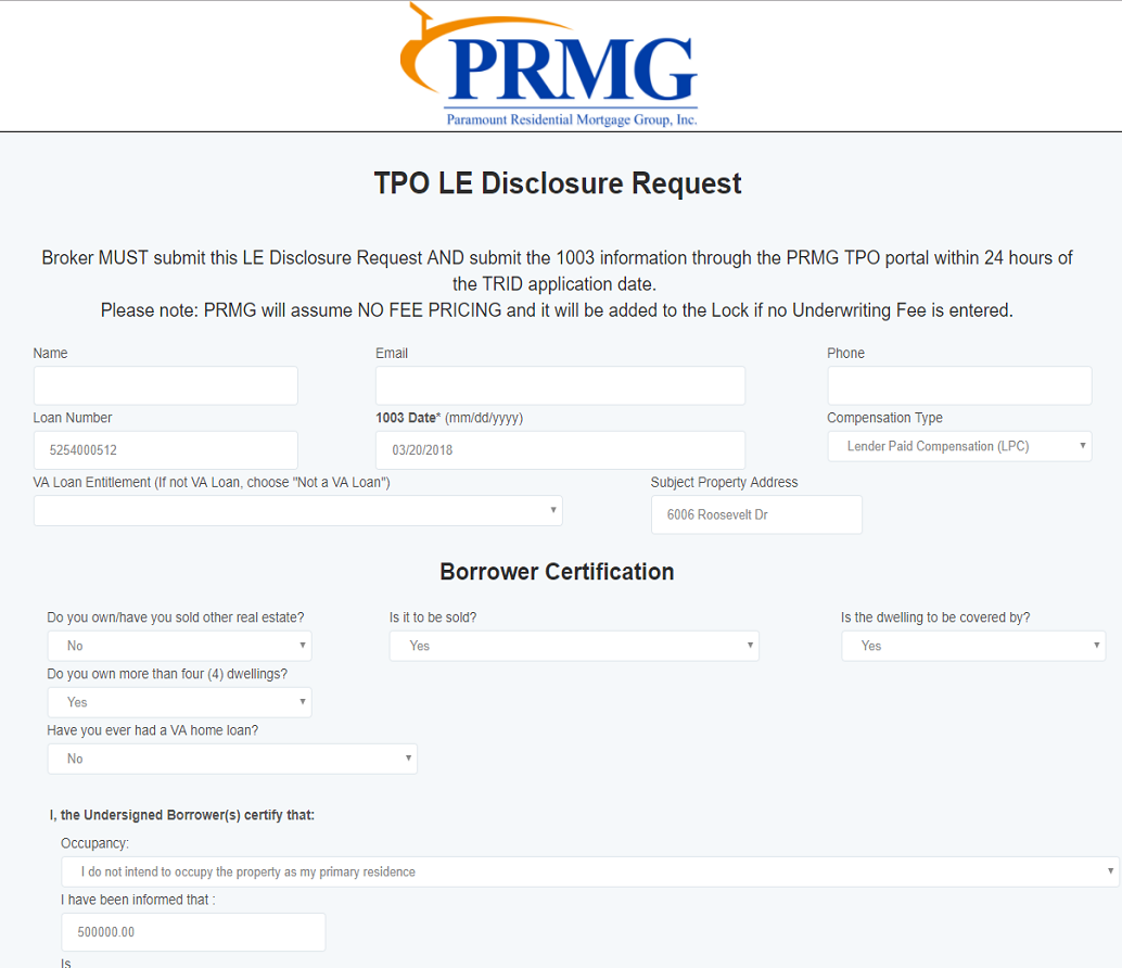 Estimate Request Form | Prmg Forms